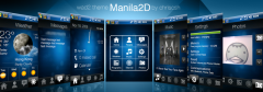 Manila 2D QVGA Theme for WisBar Advance Desktop
