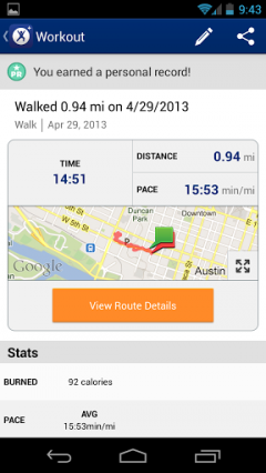 MapMyFitness+ for Android