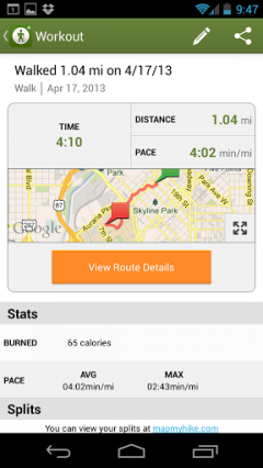 MapMyHike+ for Android