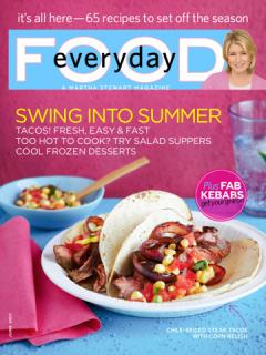 Martha Stewart Everyday Food Magazine
