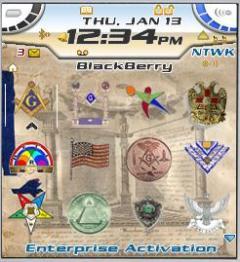Masons Theme for Blackberry 7100