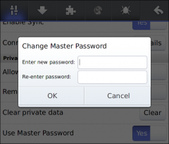 Master Password - Firefox Addon
