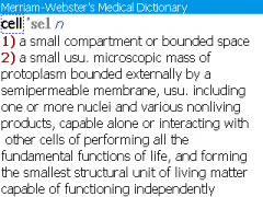 Merriam-Webster Medical Dictionary for BlackBerry