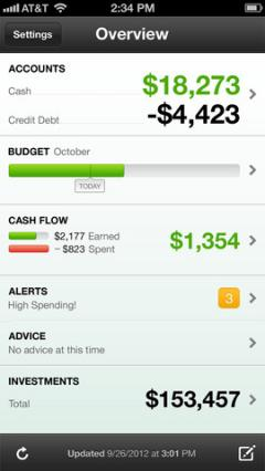 Mint.com Personal Finance for iPhone/iPad 3.4.