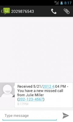 Missed Call Messenger Lite