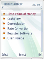Mobile Financial Calculator