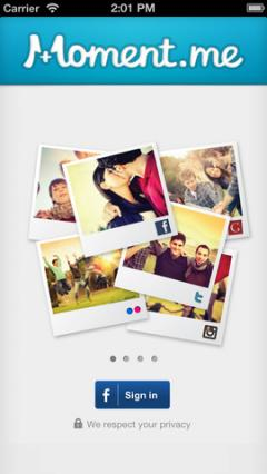 Moment.me for iPhone/iPad 3.