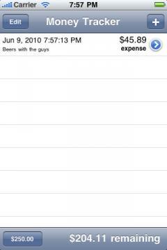 Money Tracker (iPhone)