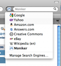 Moniker Domain Search - Firefox Addon