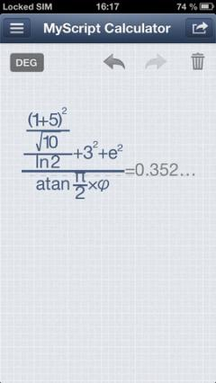 MyScript Calculator for iPhone/iPad