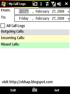 My Call Logs
