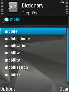 Nokia Mobile Dictionary French