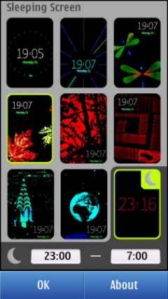 Nokia Sleeping Screen
