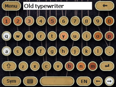 Old Typewriter Skin for SPB Keyboard