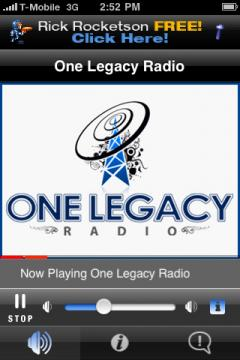 One Legacy Radio (iPhone)