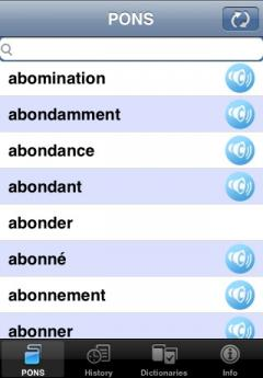 PONS Advanced Dictionary French-German (iPhone/iPad)