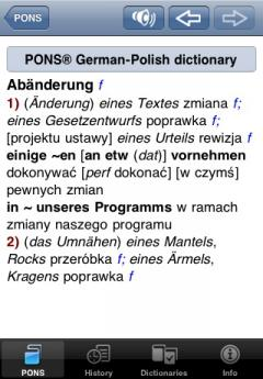 PONS Compact Dictionary Polish - German (iPhone/iPad)