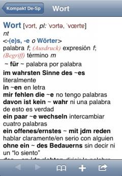 PONS Compact Dictionary Spanish-German (iPhone/iPad)