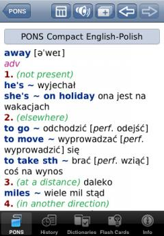 PONS Compact English-Polish Dictionary for iPhone/iPad