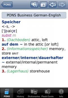 PONS English-German & German-English Business Dictionary for iPhone/iPad
