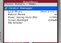 PhoneBasics - Device Manager