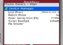 PhoneBasics - Device Manager