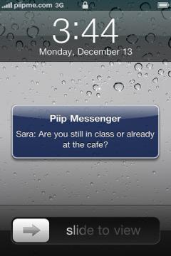 Piip Messenger for iPhone