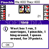 Pinochle for Palm OS