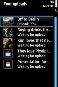 Pixelpipe Share Online (Symbian)