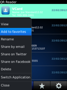 QR Reader Premium for BlackBerry
