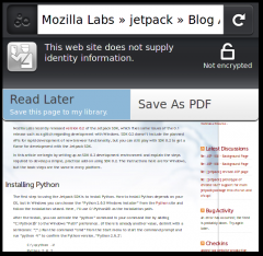 Reading List - Firefox Addon