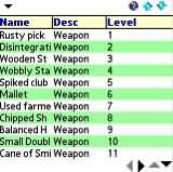 RealmWalker Items List