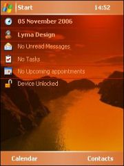 Red Valley Theme for Pocket PC
