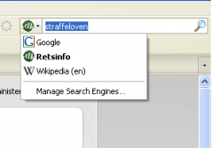 Retsinformation search - Firefox Addon