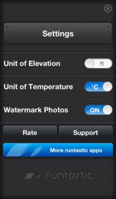 Runtastic Altimeter for iPhone