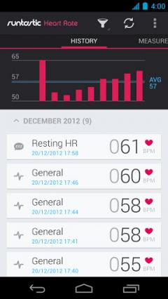 Runtastic Heart Rate Pro for Android