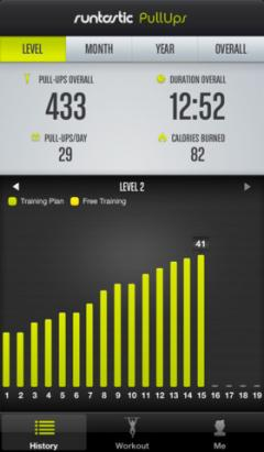 Runtastic Pull-Ups Pro for iPhone/iPad