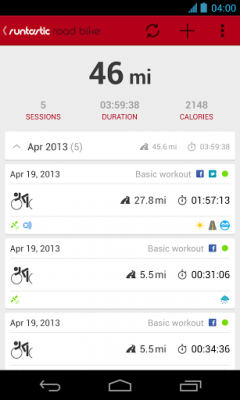 Runtastic Road Bike Pro for Android