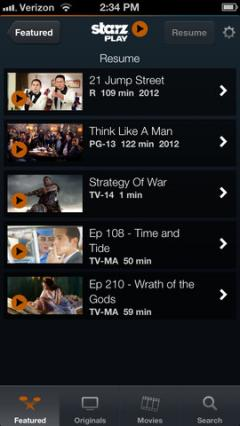 STARZ Play for iPhone/iPad