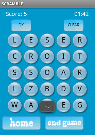 Scramble Classic Game Where You Have Board