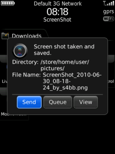 Screen Shot for BlackBerry