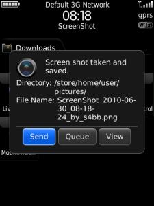 Screen Shot for BlackBerry