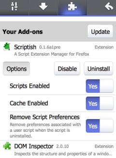 Scriptish - Firefox Addon