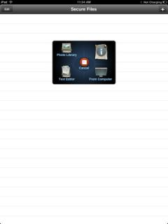 Secure Files for iPad