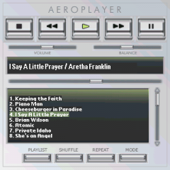 Silverline Skin for AeroPlayer