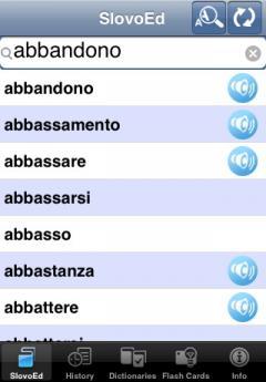 SlovoEd Classic Dutch-Italian & Italian-Dutch Dictionary (iPhone/iPad)