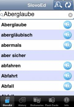 SlovoEd Classic French-German & German-French Dictionary (iPhone/iPad)