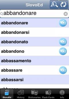 SlovoEd Compact Italian-Portuguese & Portuguese-Italian Dictionary (iPhone/iPad)