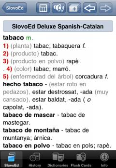 SlovoEd Deluxe Catalan-Spanish & Spanish-Catalan Dictionary for iPhone/iPad