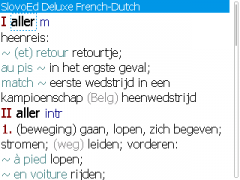 SlovoEd Deluxe Dutch-French & French-Dutch Dictionary for BlackBerry